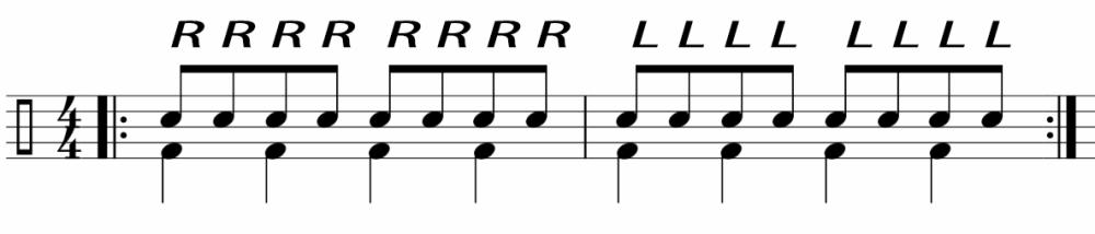 ドラム左手①