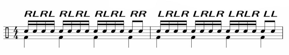 ドラム左手③