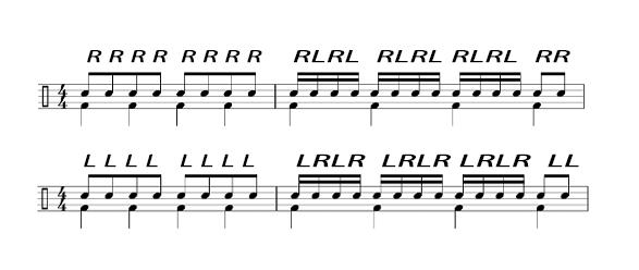 ドラム左手②