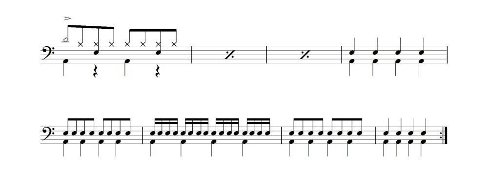 4分音符~〜16分音符