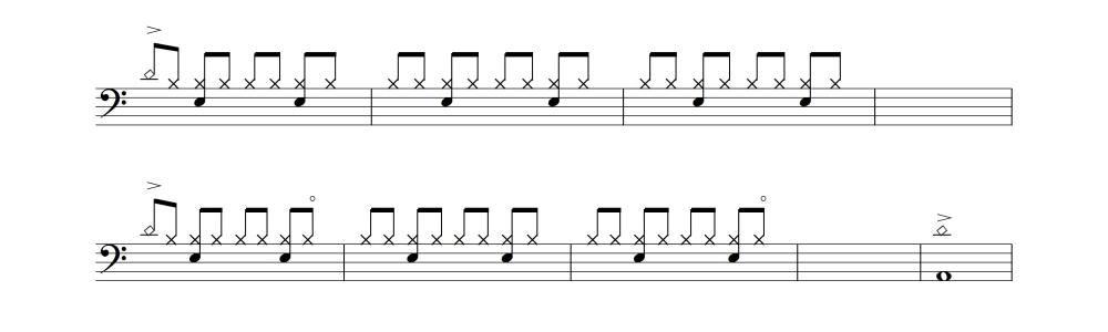 ドラム譜②