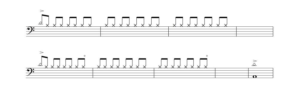 ドラム譜①