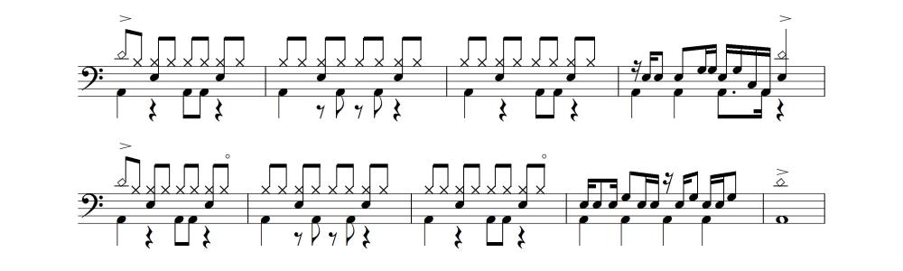 ドラム譜④
