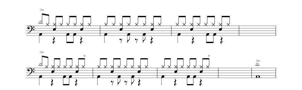 ドラム譜③